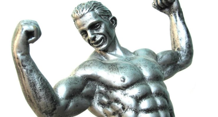 testosterone, man and muscle